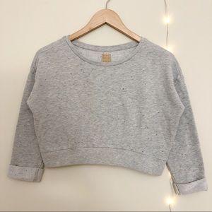🍍5/$25 Zara Cropped Crewneck Sweatshirt Size S